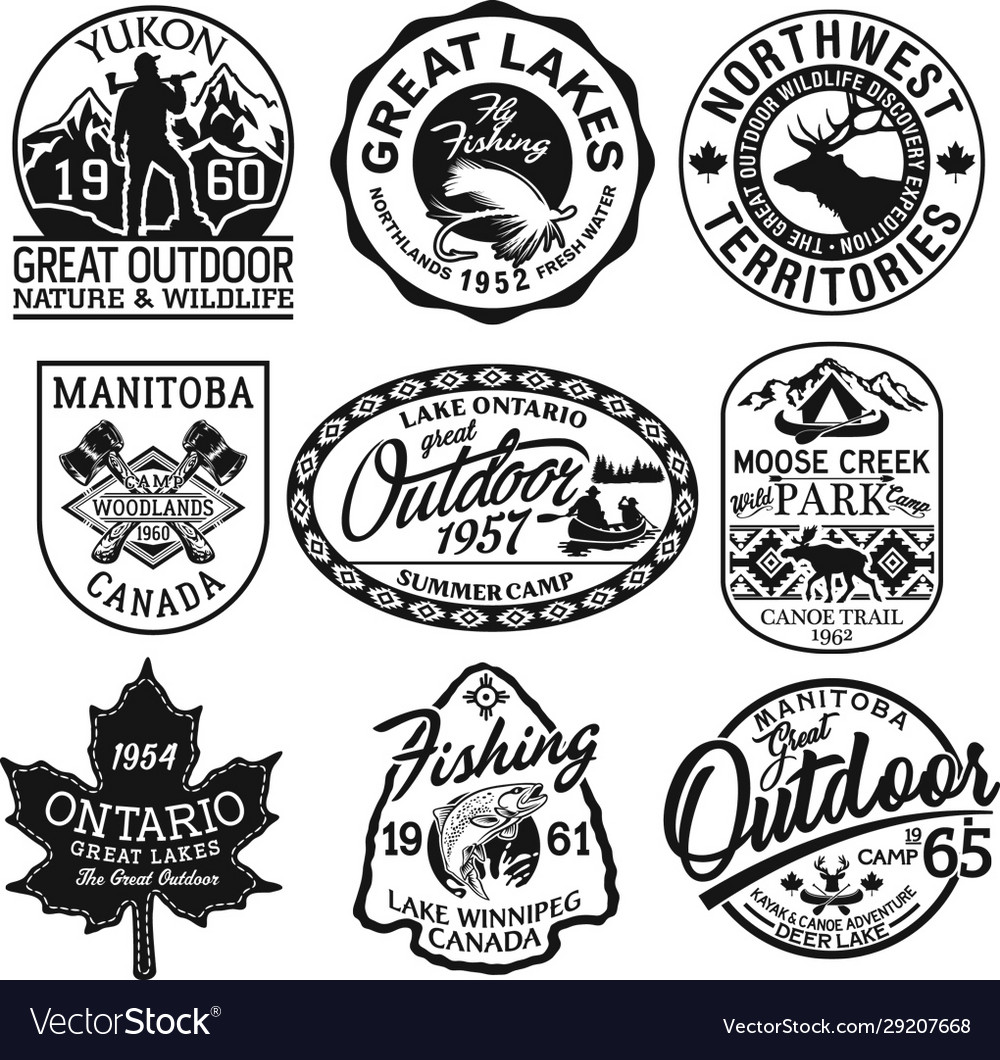 Canada outdoor adventure stickers and patches