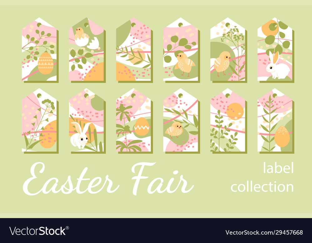 Collection tags for easter gifts or sales