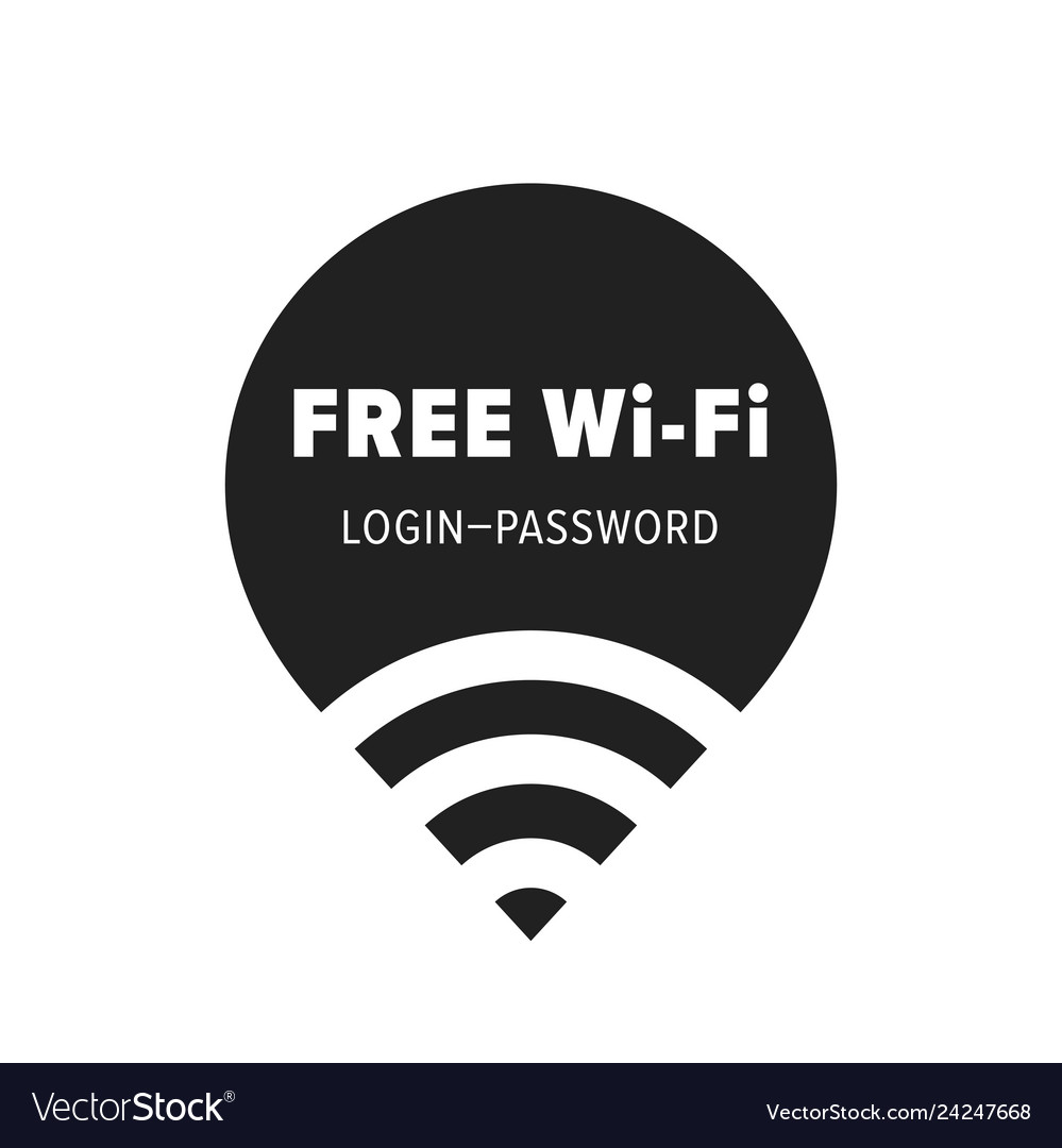 Free wi-fi zone icon public free wifi wlan