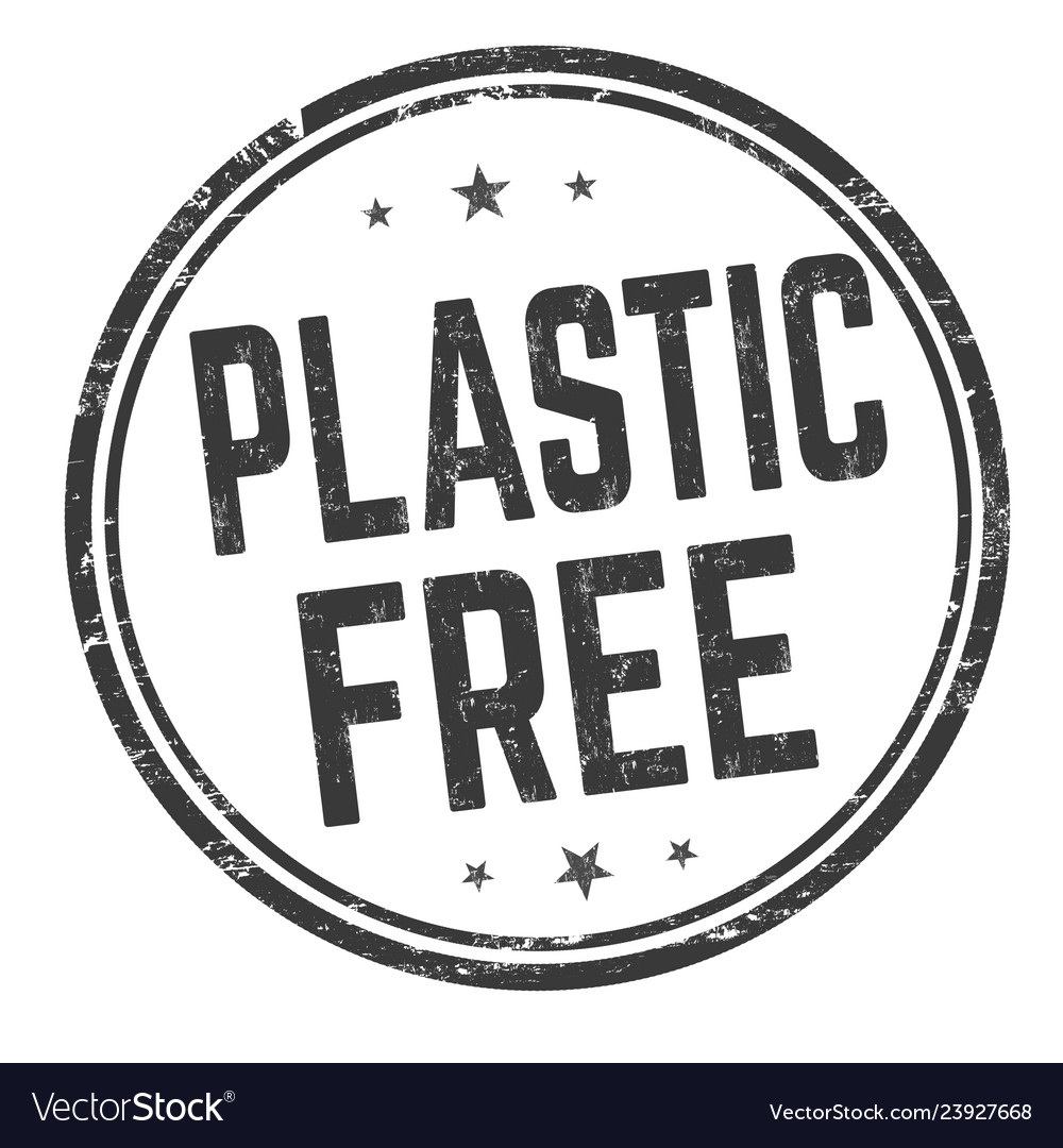 Plastic free sign or stamp