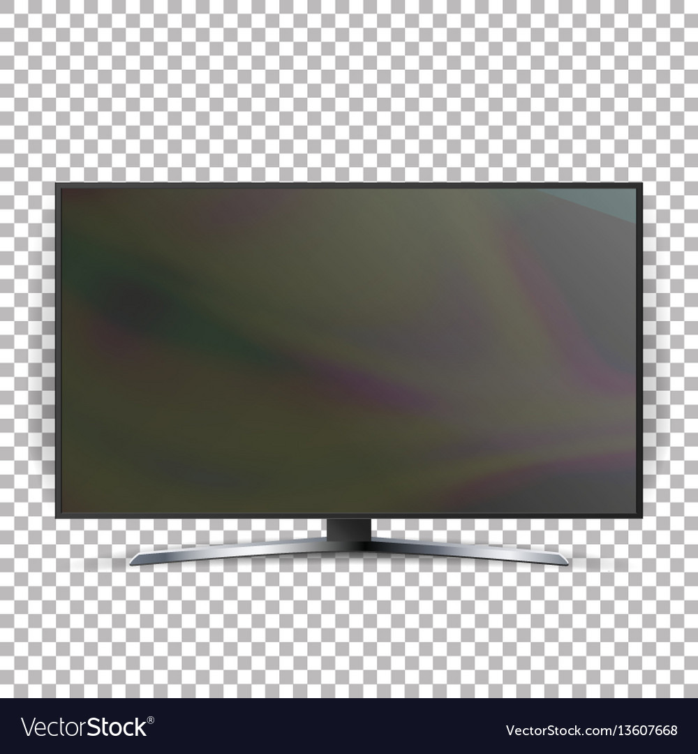 Screen lcd plasma isolated on checkered