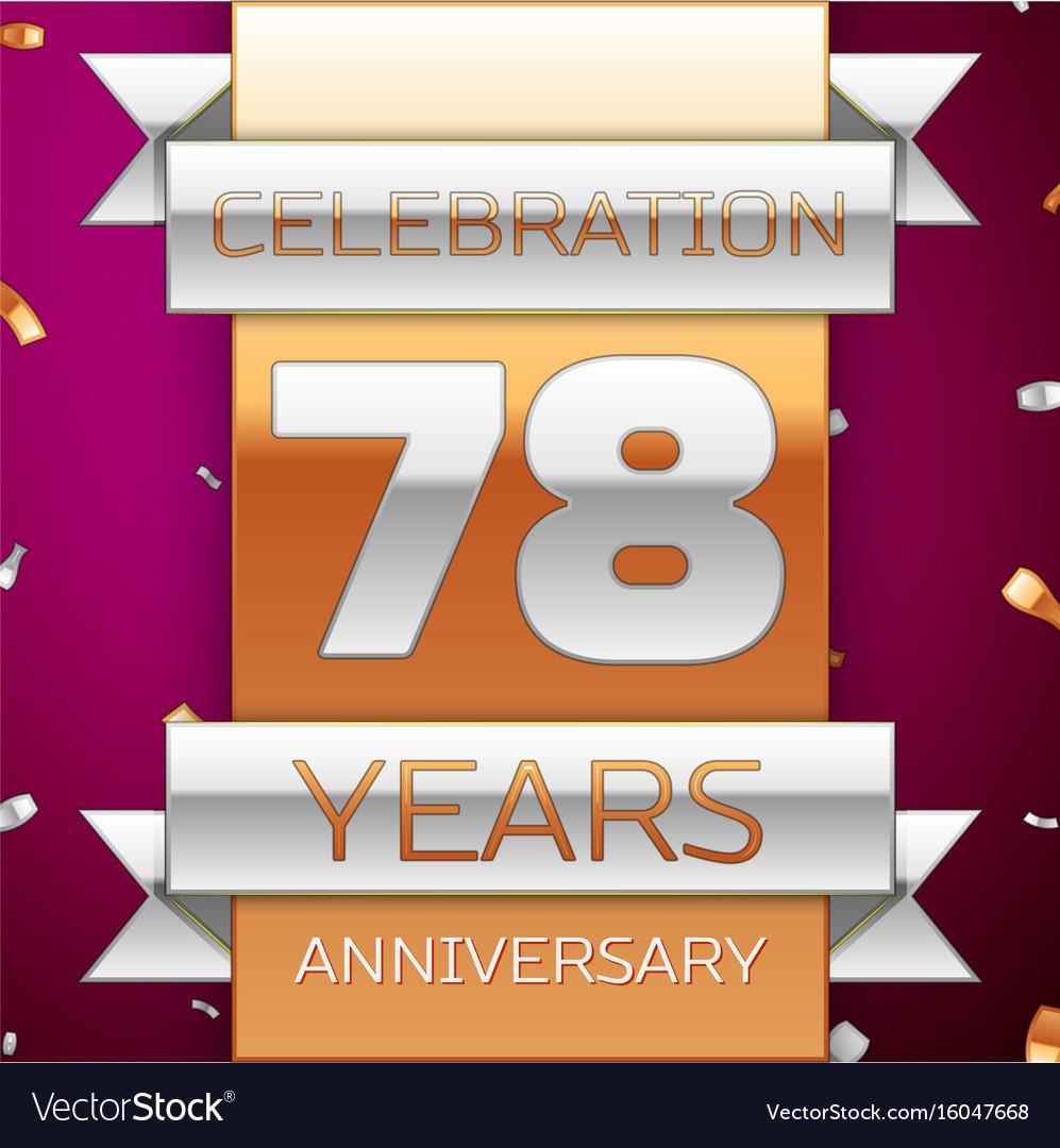 Seventy eight years anniversary celebration design