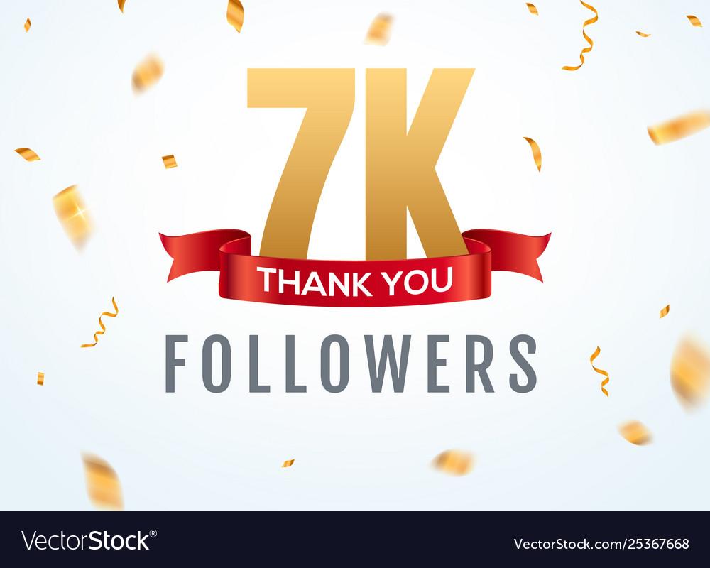 Thank you 7000 followers design template social