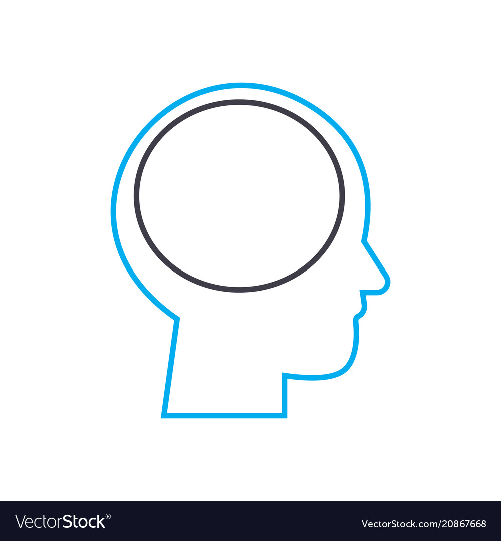 Thinking process thin line stroke icon