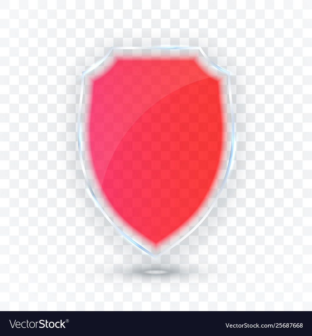 Transparent shield safety glass badge icon