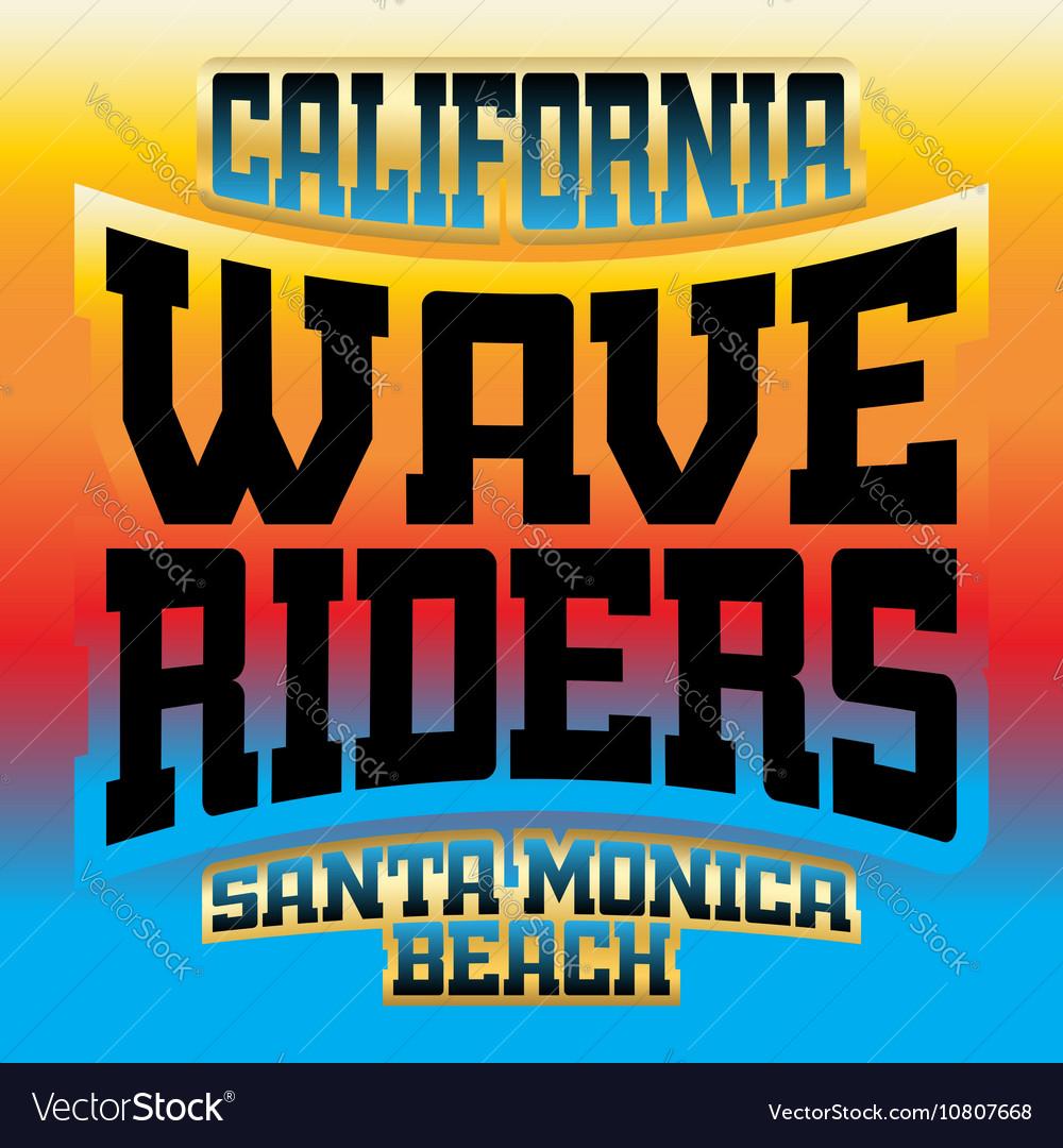 Wave riders t shirt graphics rainbow