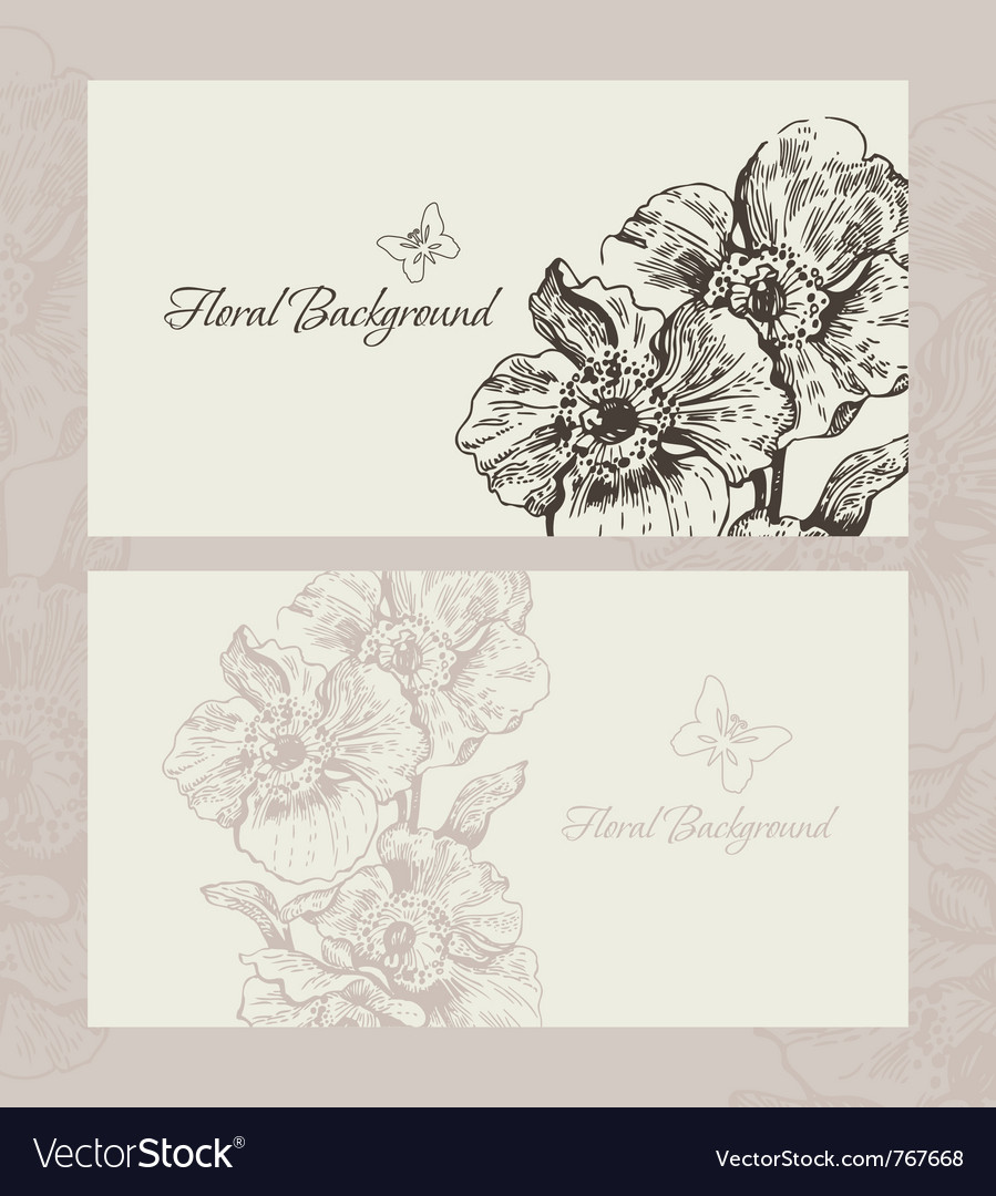 Wedding invite with floral background