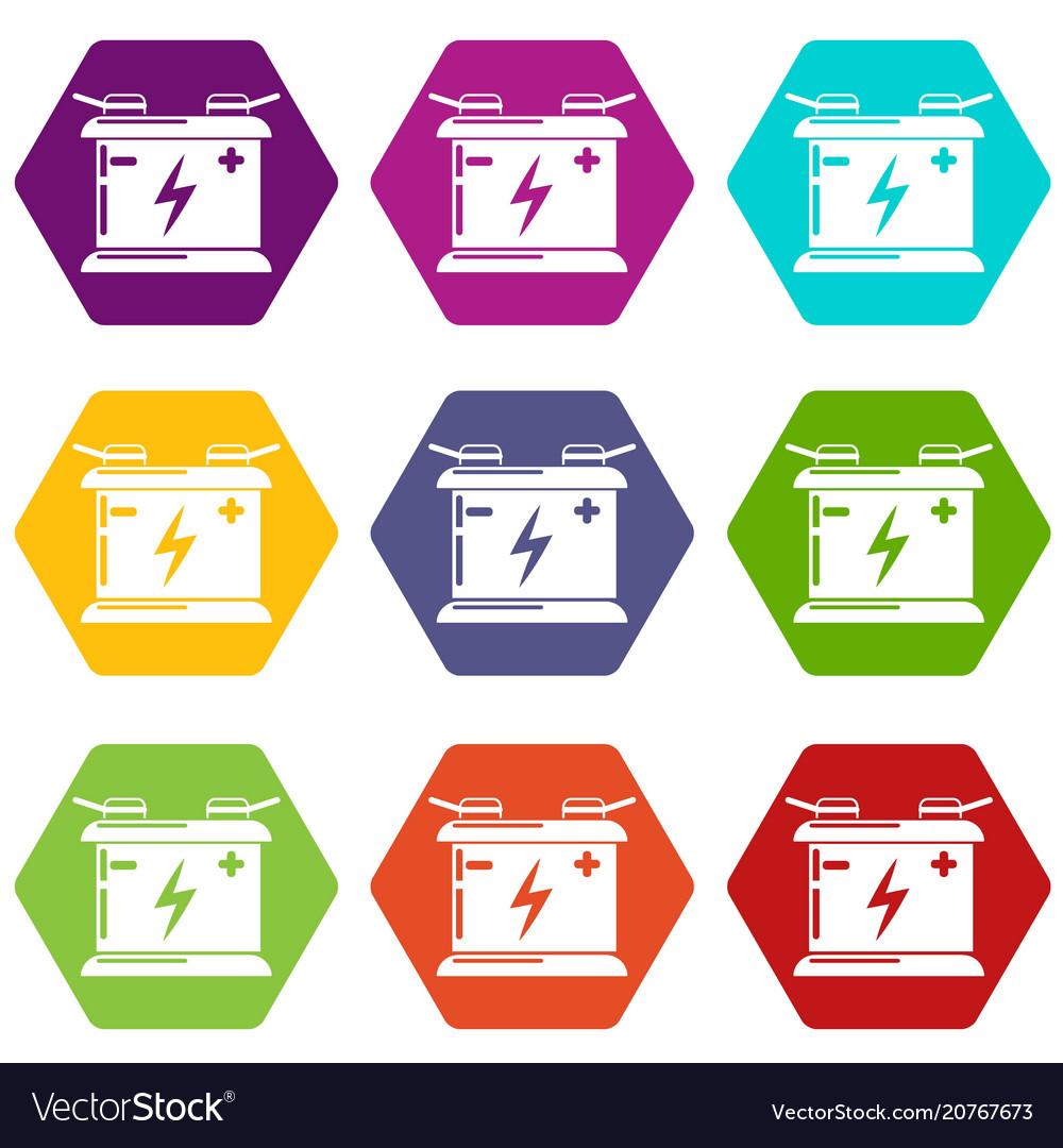 Accumulator icons set 9