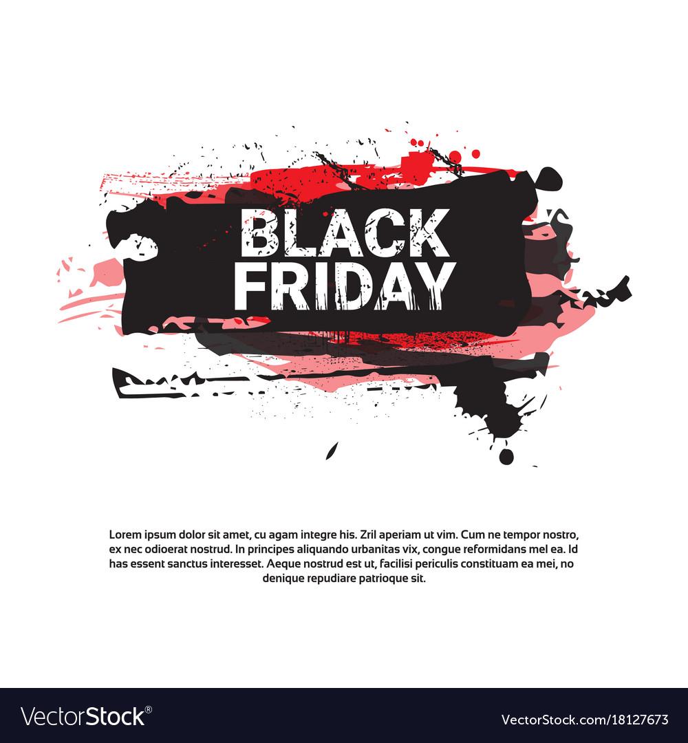 Black Friday Flyer Big Holiday Sale Banner Vector Image
