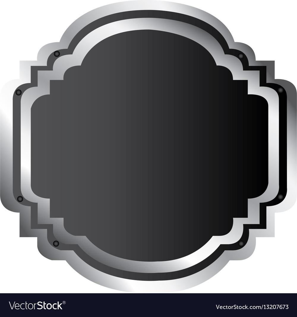 Black silhouette elegant heraldic decorative frame vector image