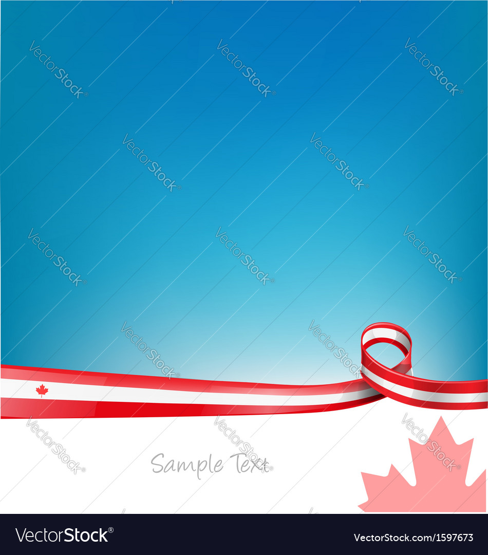 Canada background with flag vector image
