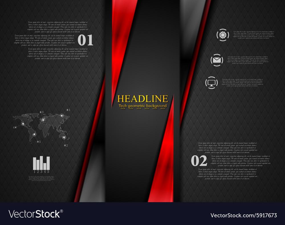 Contrast black red tech presentation brochure