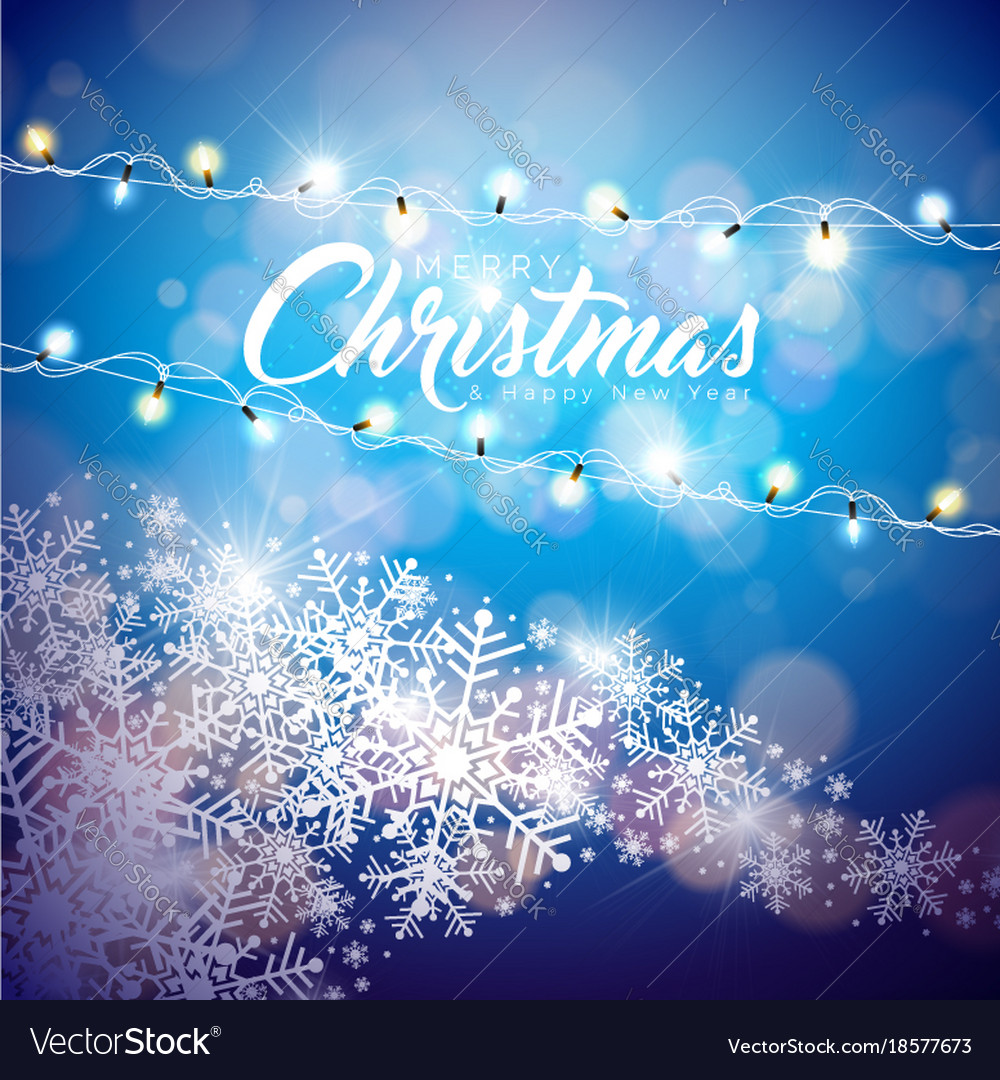 Merry christmas on shiny