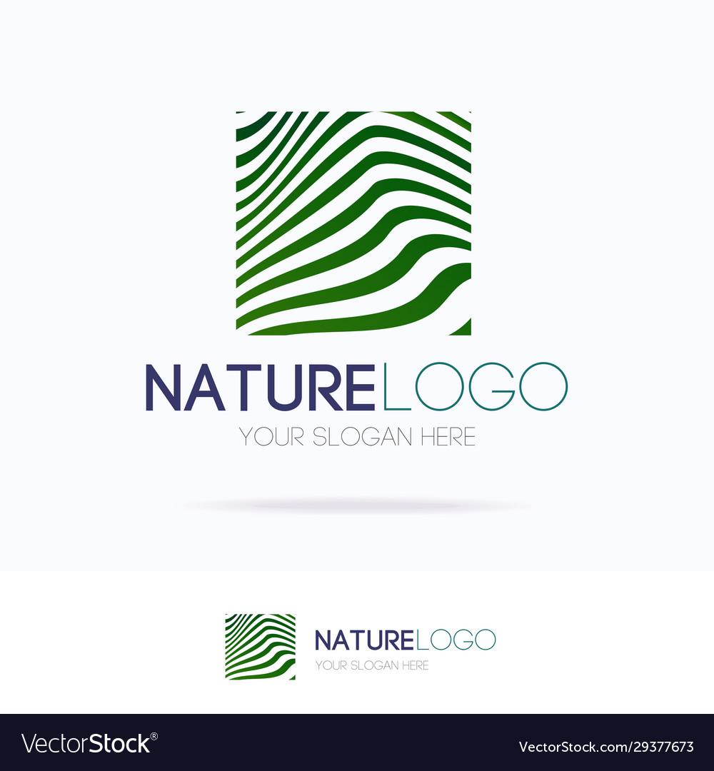 Natural logo motion gradient line