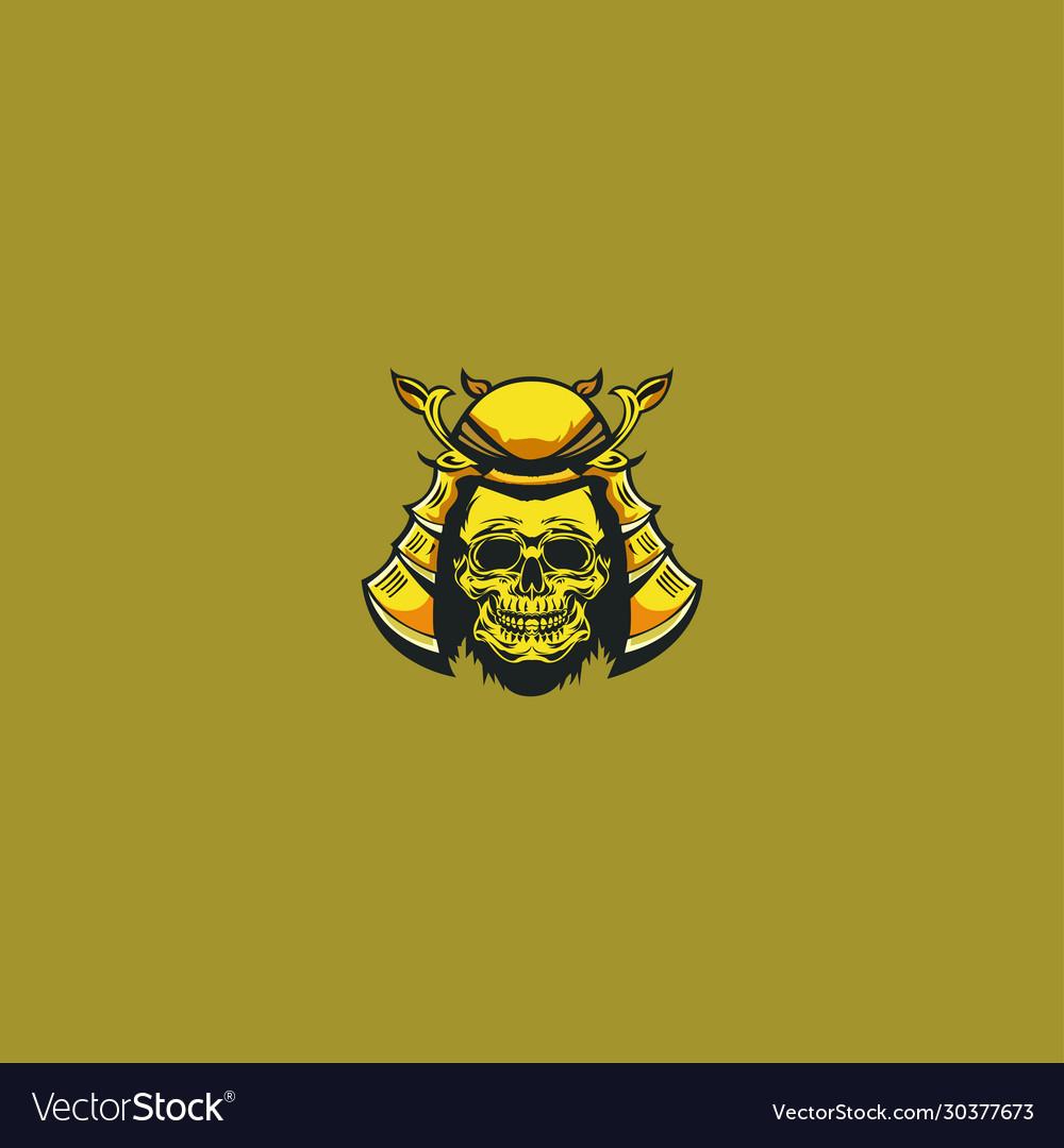 Samurai skull logo