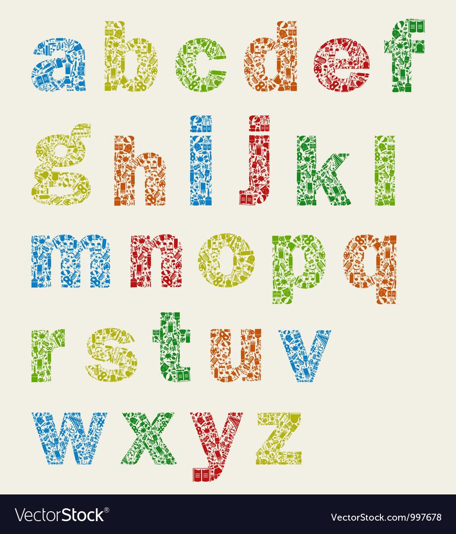 Art alphabet vector image
