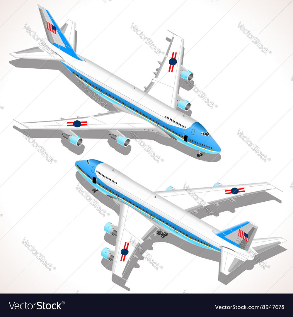 Boeing Aircraft Isometric Airplane
