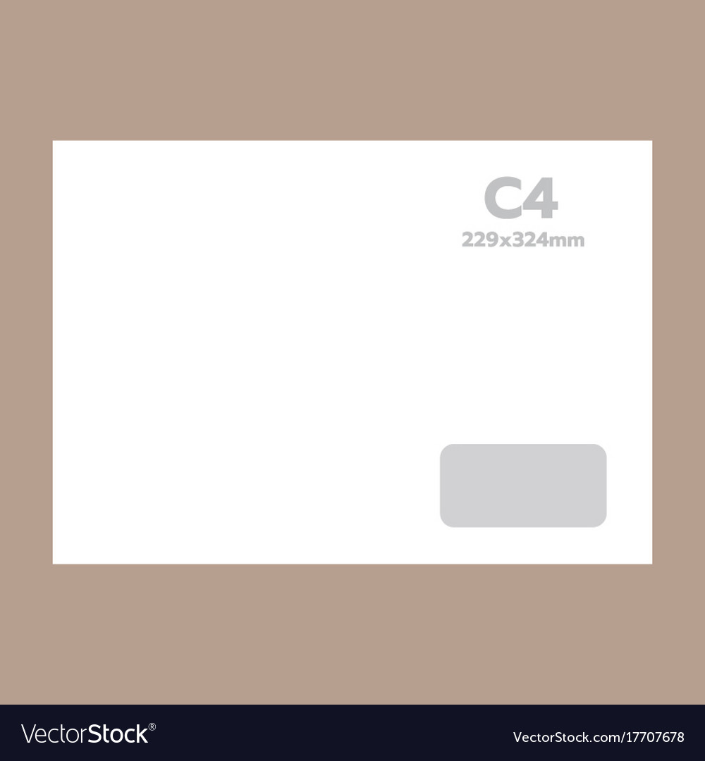 C4 envelope mockup realistic style vector image