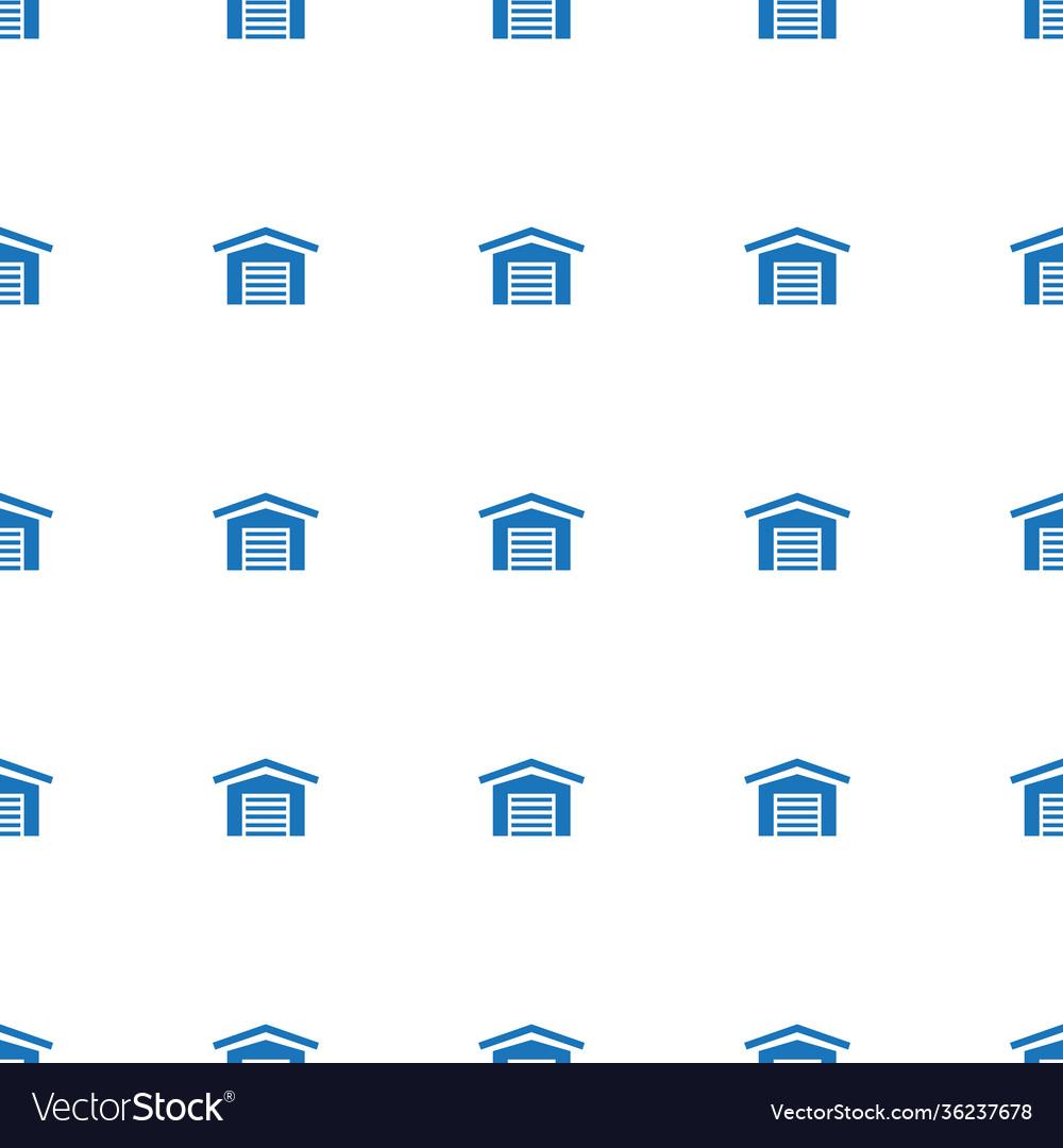 Garage icon pattern seamless white background