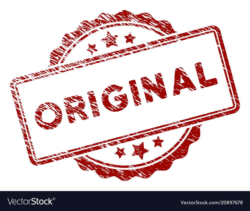 low priced fdbf3 74008 Grunge textured original stamp seal vector image