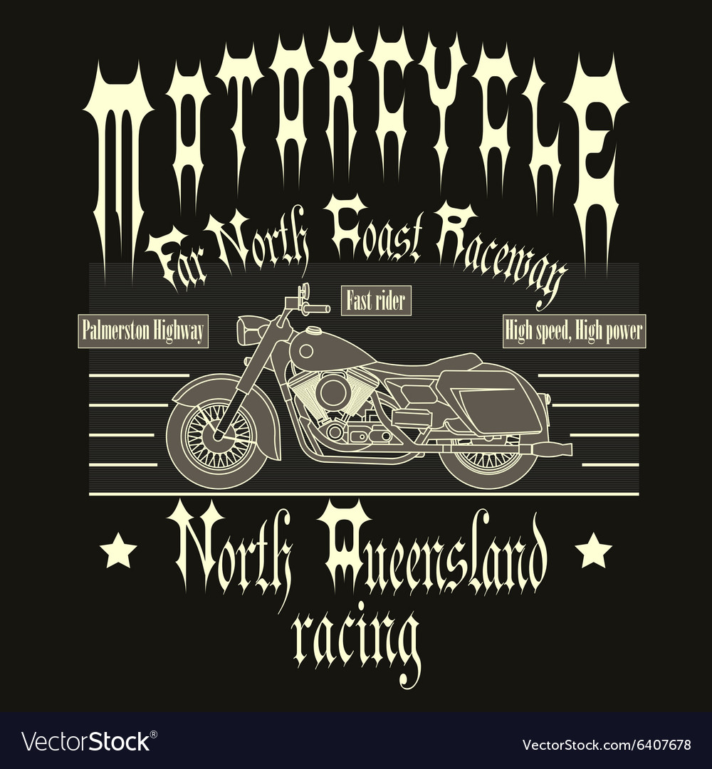 Motorcycle Racing Typography t-shirt