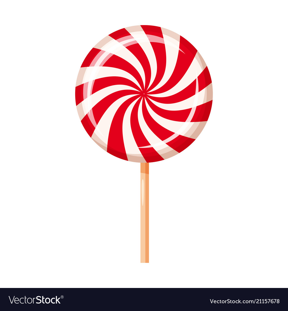 striped peppermint candy caramel cartoon vector image