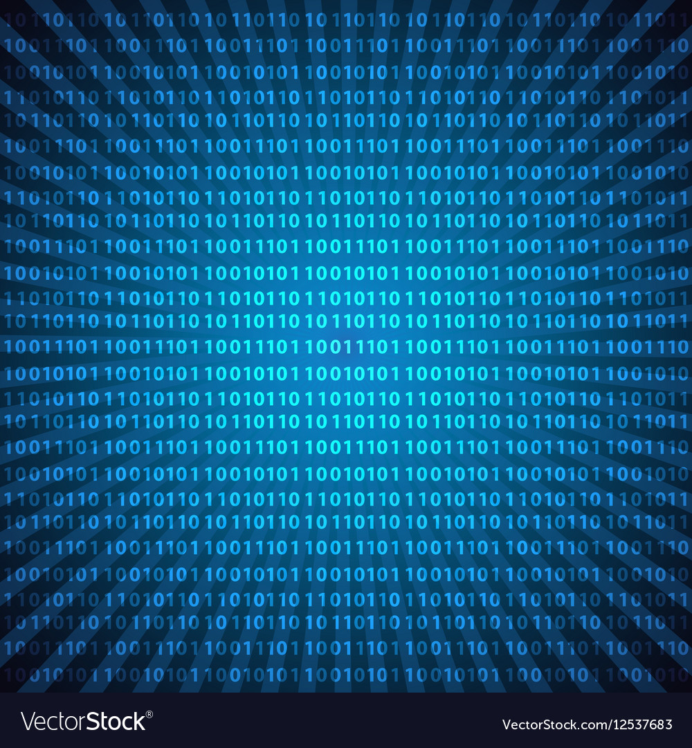 Abstract mystic binary code digits blue lines vector image
