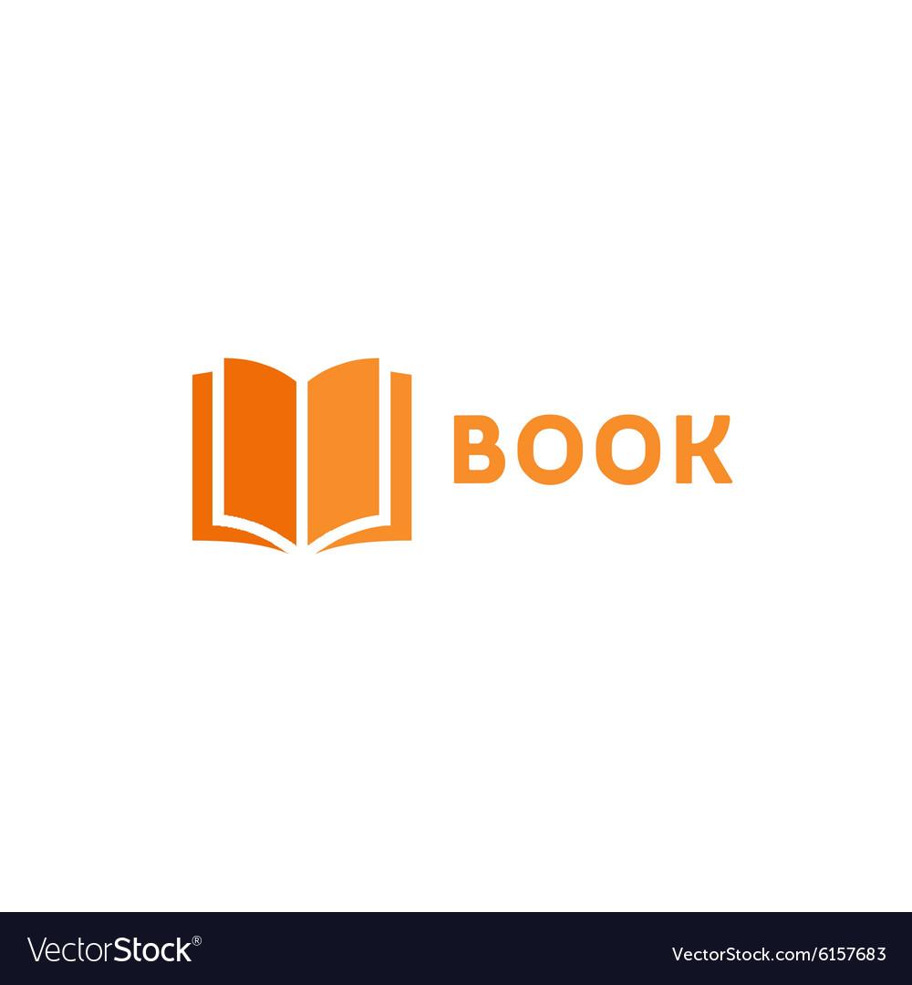 Book page icon logo orange style flat