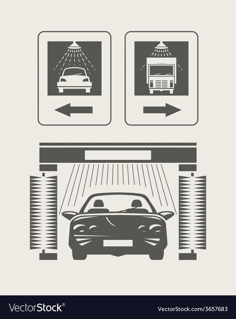 Car wash Set of icons