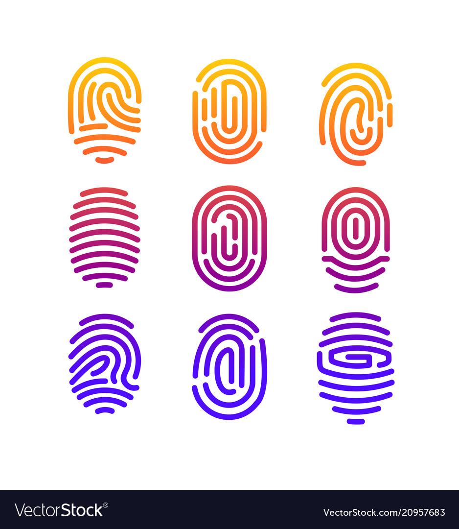 Different shape fingerprint
