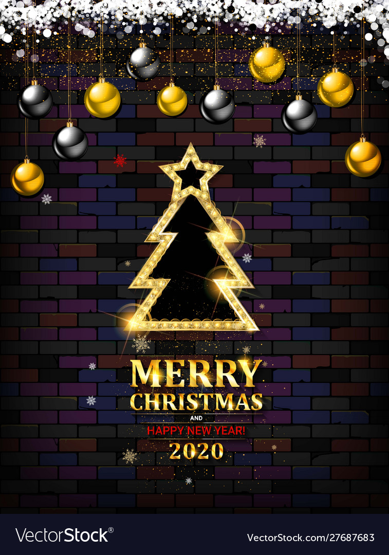 Festive christmas and new year 2020