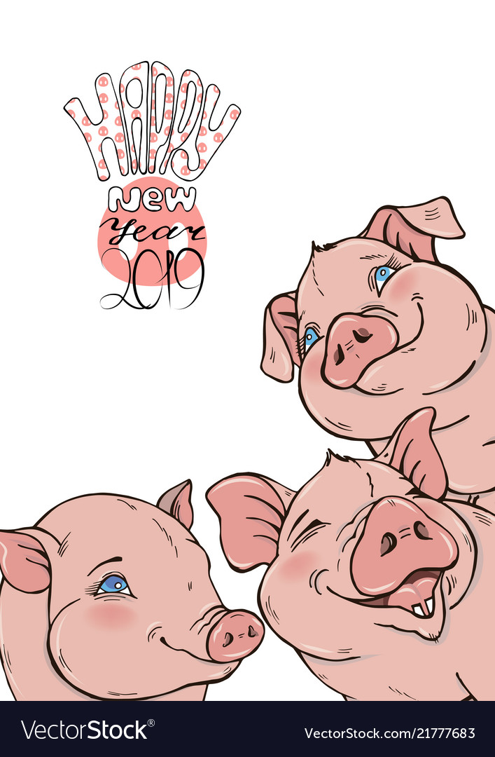 Funny pigs and a wish for a happy new year