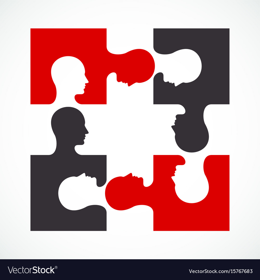 People four puzzle concept