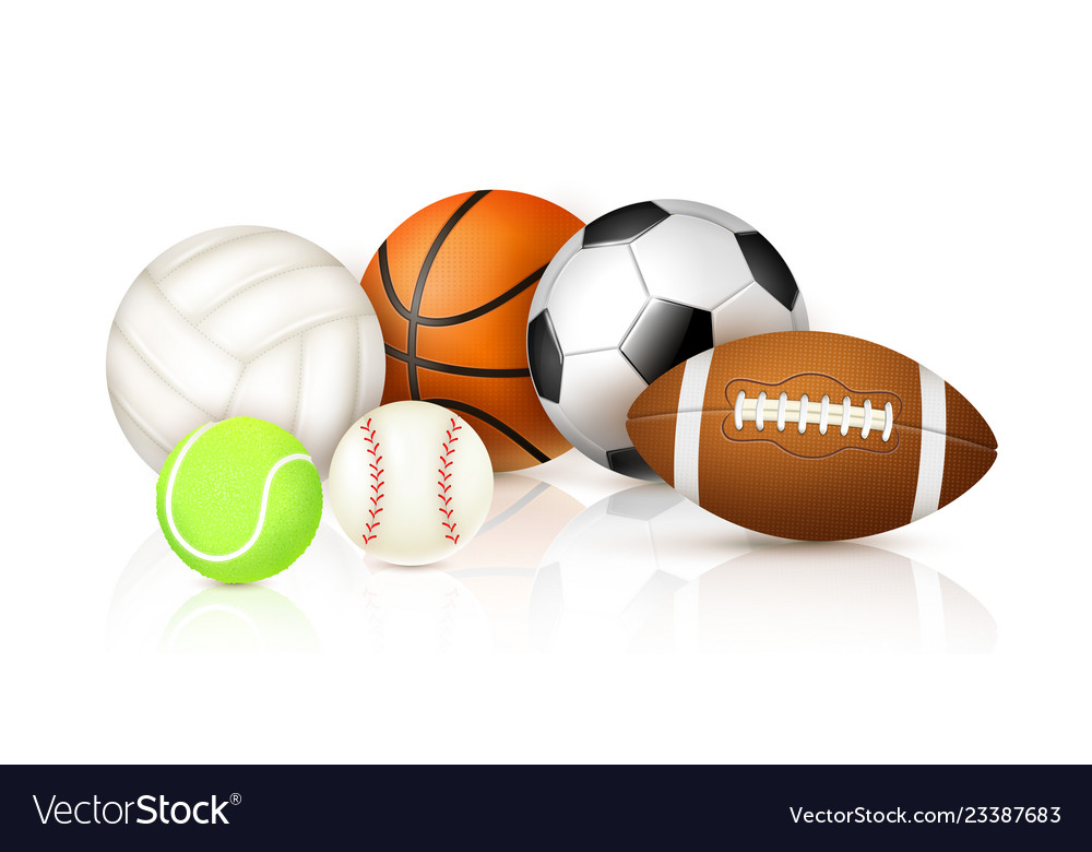 Realistic Sport Balls Royalty Free Vector Image