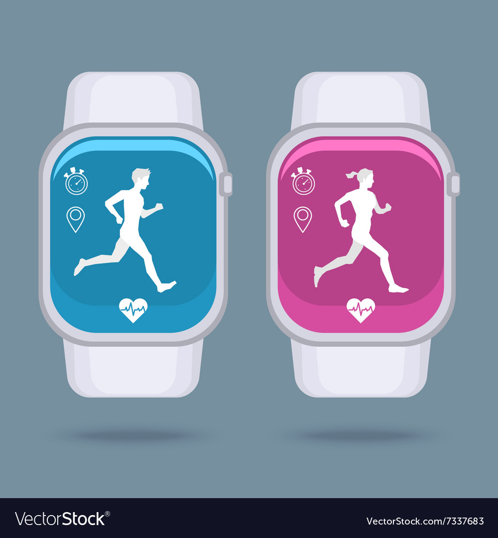 Smart watch technology with sport fitness tracker