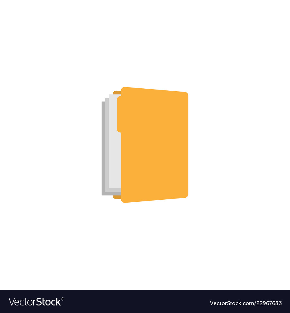 Yellow folder graphic design template