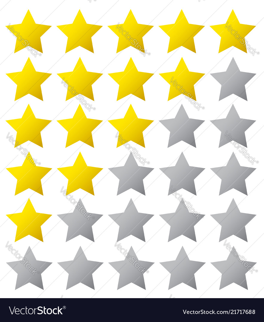 5 star rating eps10 isolated badge