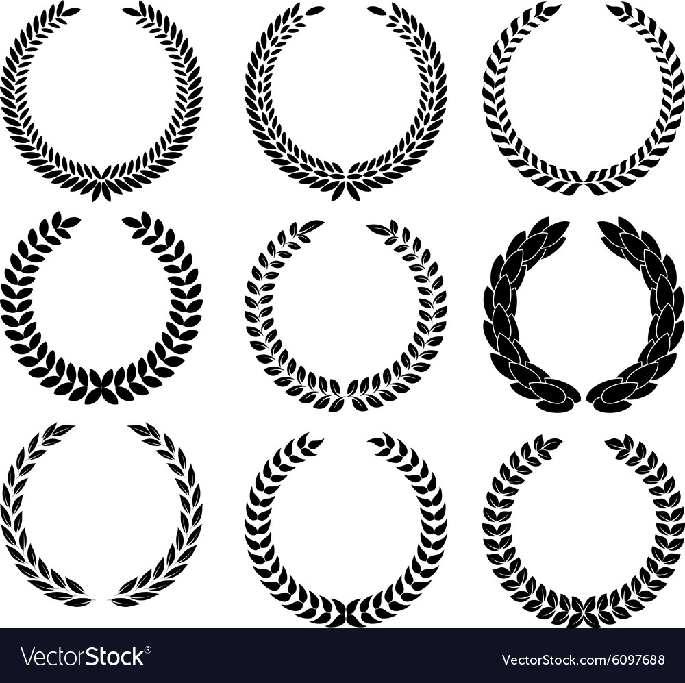 A Laurel Wreath Symbol Of Victory And Royalty Free Vector