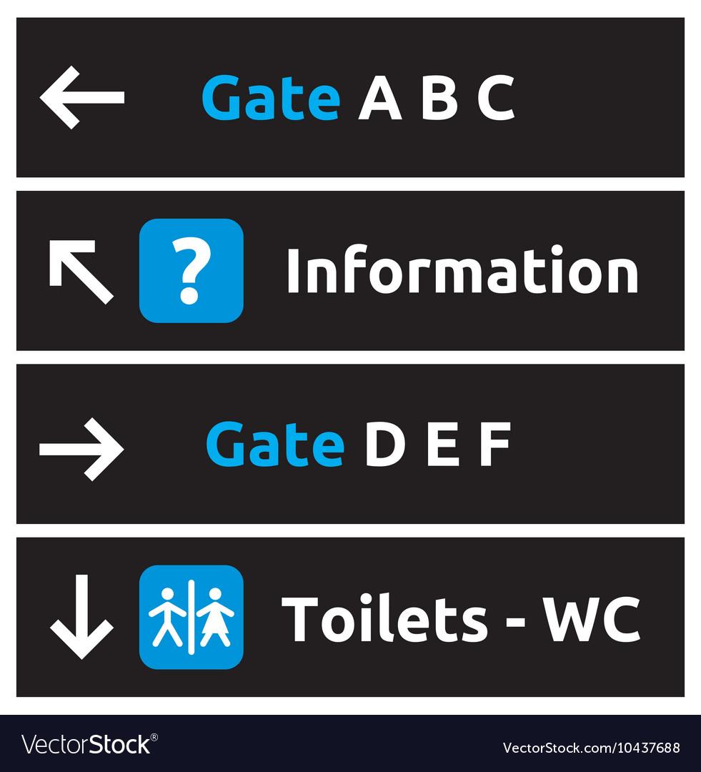 Aeroport signs and symbols1