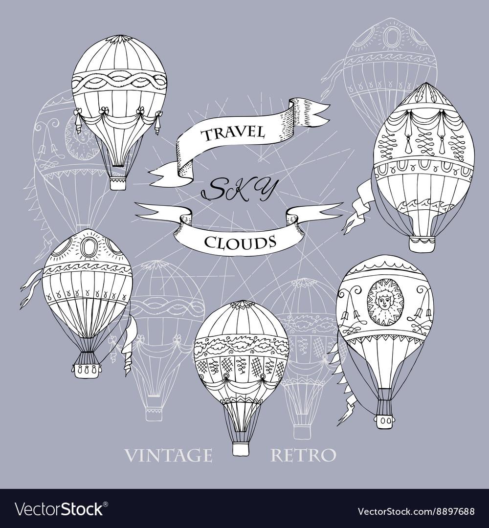 Air Balloons Backgr-15 vector image