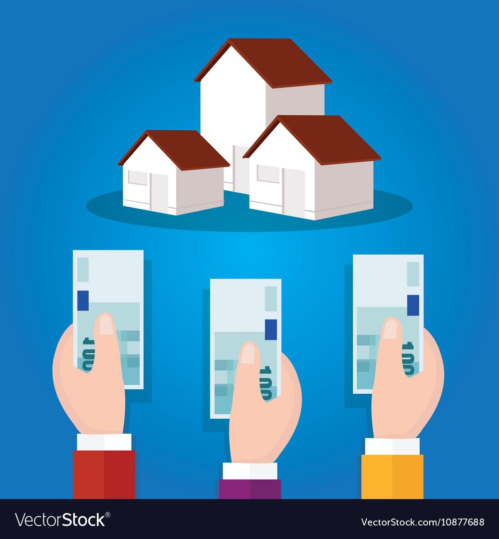 Auction bidding home house property concept sale