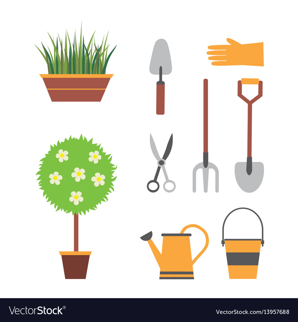 Garden set with tools