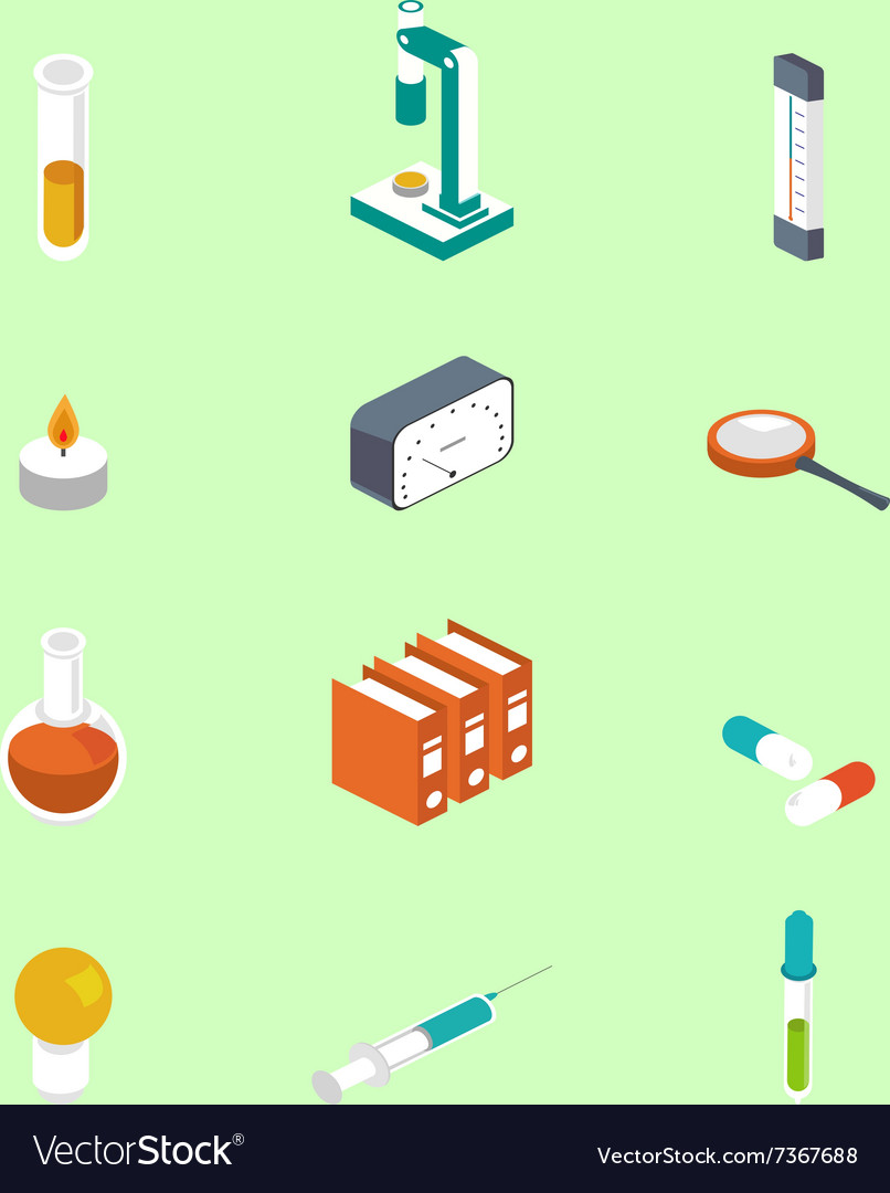 Icon isometric style Medical symbol collections