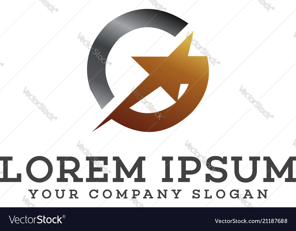 Letter g star logo design concept template