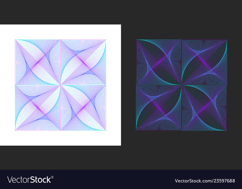 Lines in square logo