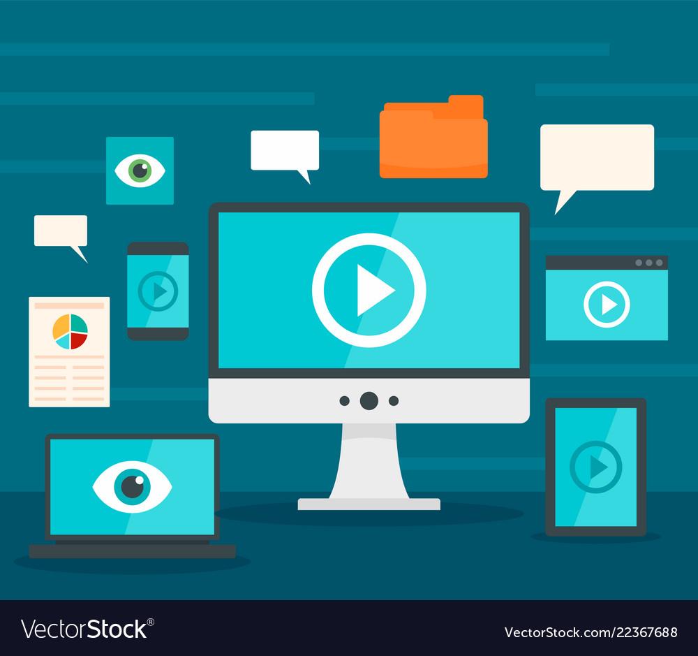 Screen monitor visualization concept background