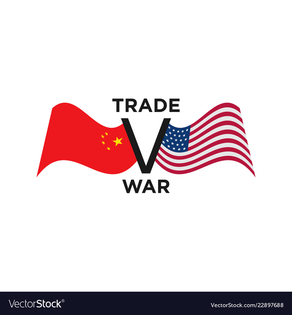 Trade war usa china graphic design template