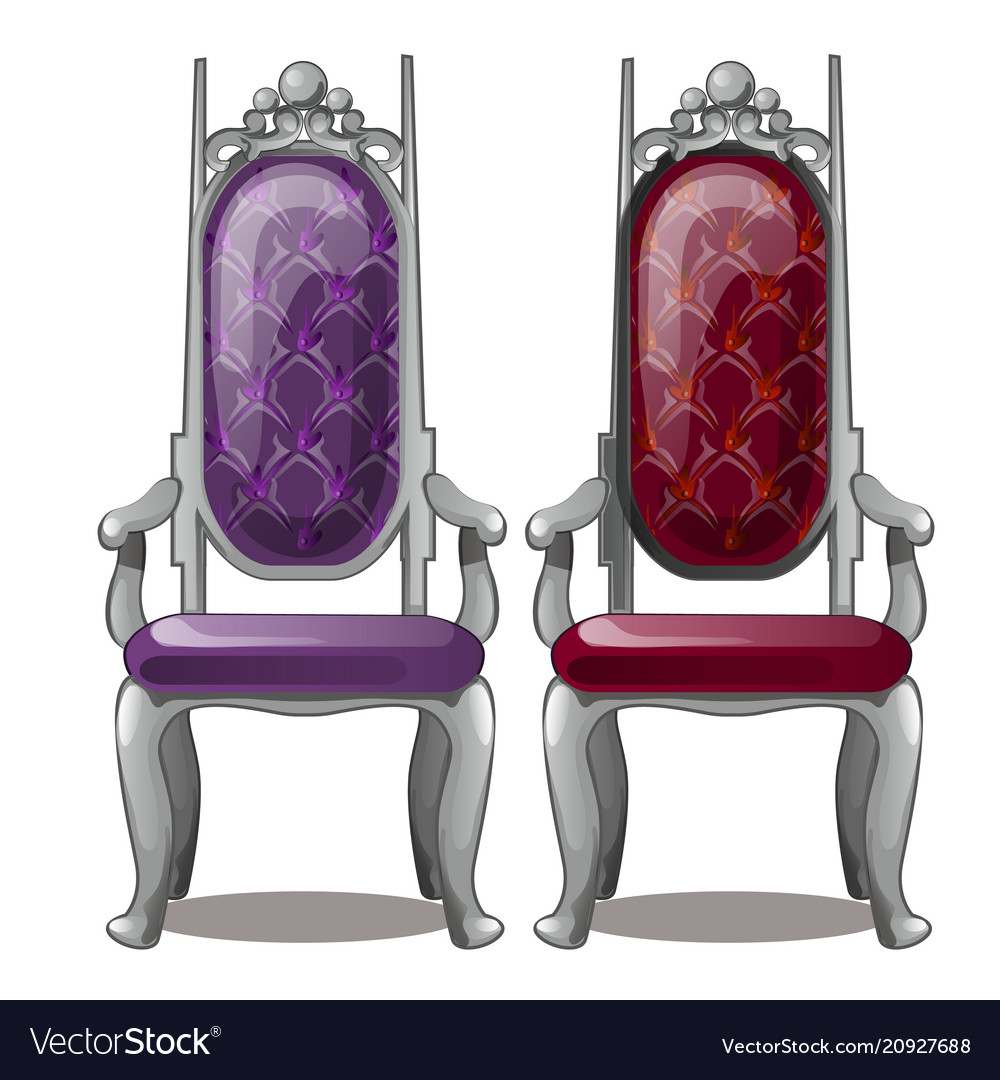 Two of the royal throne isolated on white