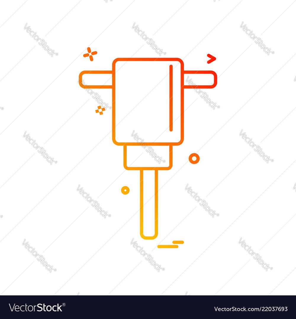 Air hammer icon design