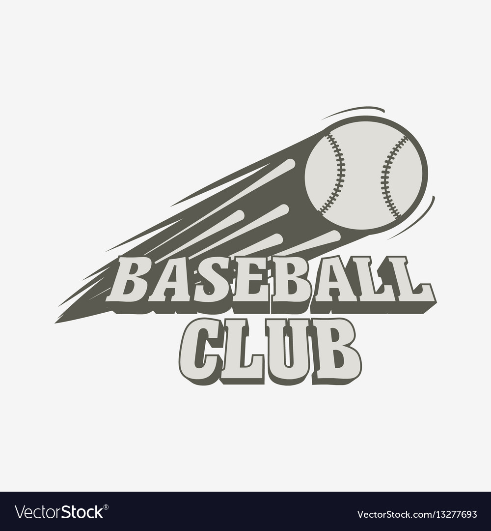 Baseball Logo Badge Or Label Template Vector Image